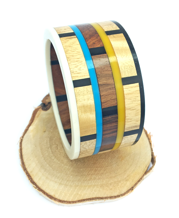 Mango Wood and Resin Bangle