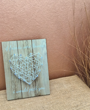 Friends Woven String Heart Wall Art