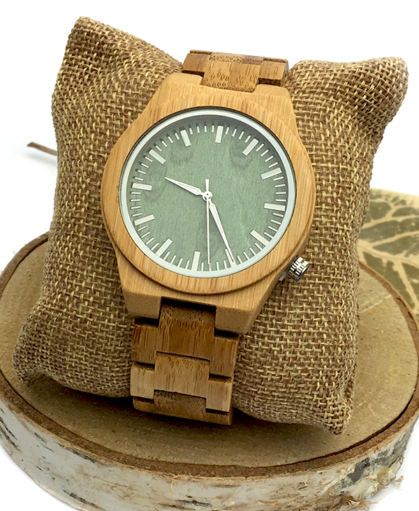 Men's Bamboo Wood Vintage Quartz Watch