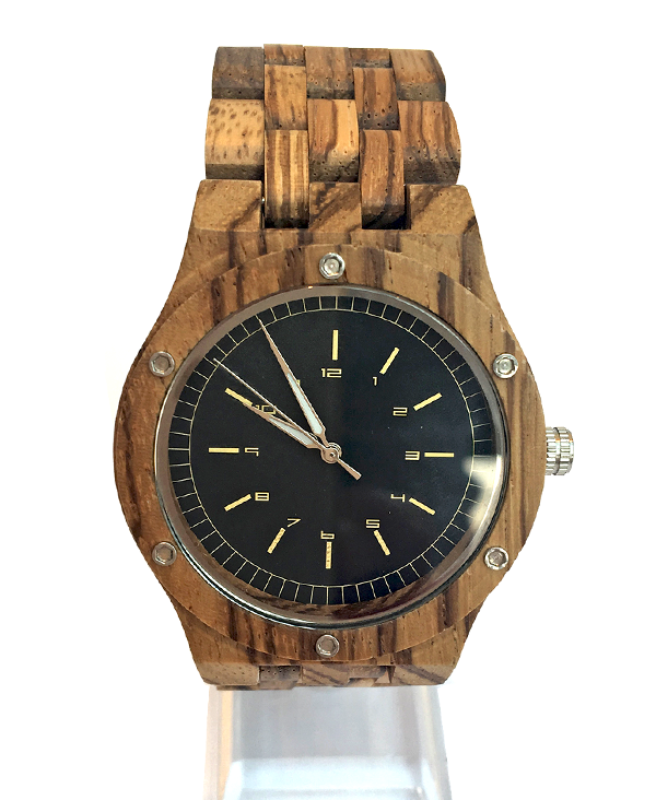 Zebrawood Quartz Watch