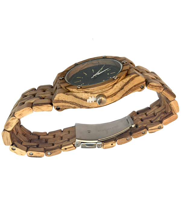 Men's Zebrawood adjustable links