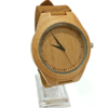 Men's Bamboo Watch With Leather Strap