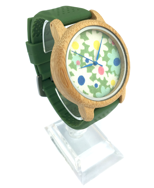 LadiFlower Face Bamboo Watch