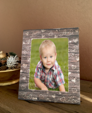 Portrait Love Themed Wooden Photo Frame