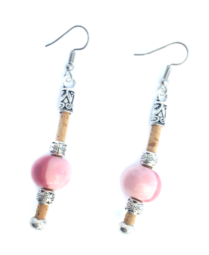 PINK CORK EARRINGS_2