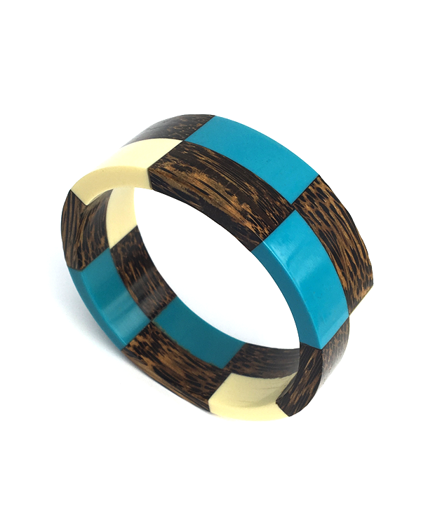 Palm Wood and Resin Bangle