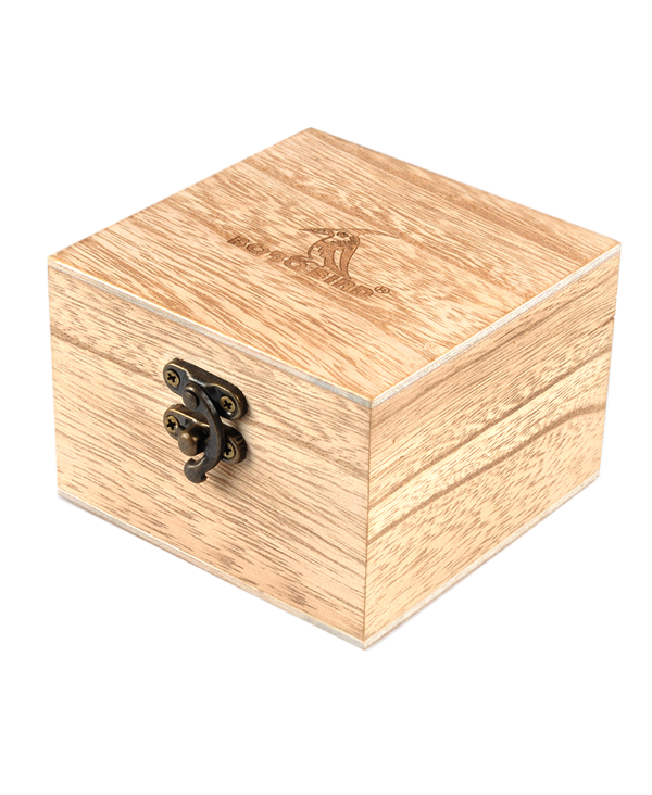 Square wooden box with catch