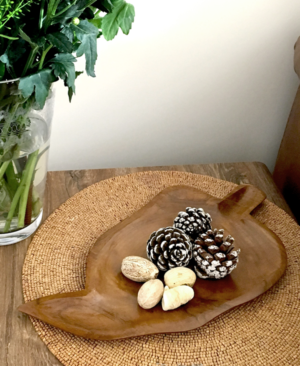 TEAK ROOT LEAF BOWL_1