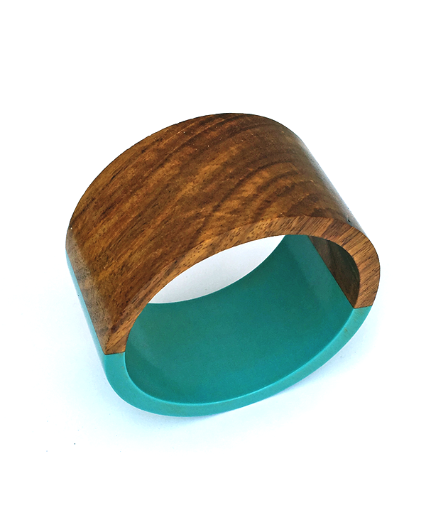 Teal Half and Half Bangle