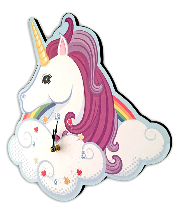 UNICORN HEAD CLOCK_2