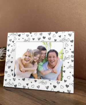 Landscape Love Themed White Wooden Photo Frame
