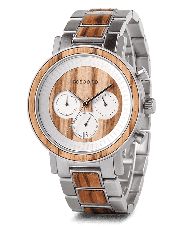 Men's Luxury Chronograph Wooden Watch